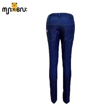 (Large Size) Jeans Dark Blue Long Pants