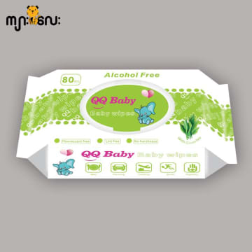 QQ Baby Wipes(Green Tea 80pcs)