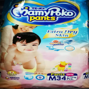 MamyPoko Pants Extra Soft - M (34 pcs) (For girl)