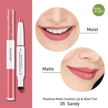 Baby Bright Matte Cushion Lip & Moist Tint#05Sandy(PLANKTON)
