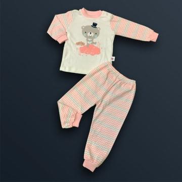 100% Cotton  Teddy Bear Pink ( 6 months)