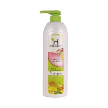 Herballines Shampoo Honey & Avocado 1000ml