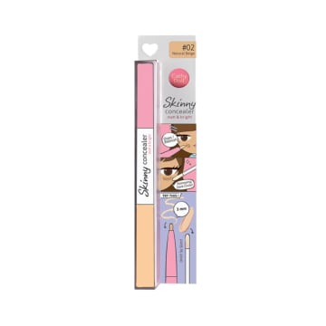 Cathy Doll - Skinny Concealer Matt & Bright #02Natural Beige