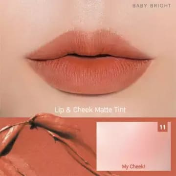Baby Bright - Lip & Cheek Matte Tint#11 Dry Halabong