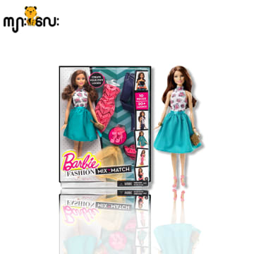 BRB FSH MX N MTC DL AST (Barbie Fashion Mix N Match) Green