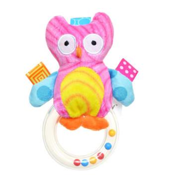 Pink Owl Hand Bell