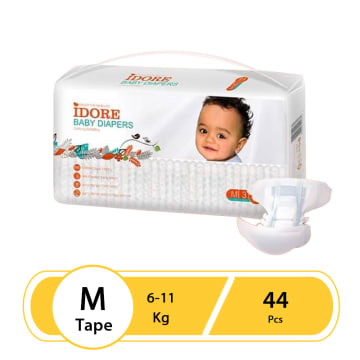 Idore Baby Diaper Tape M-44Pcs