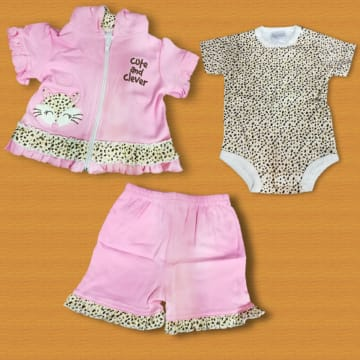 CUTE AND CLEVER PINK DRESS (3-6MONTH)