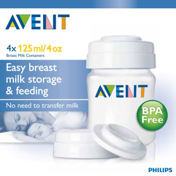 Philips Avent Easy Breast Milk Storage & Feeding 125ml - SCF-680/04