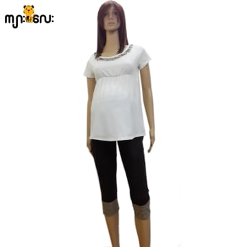 (Medium Size ) Cotton Black With Bubbery Check 5 qtr Pants