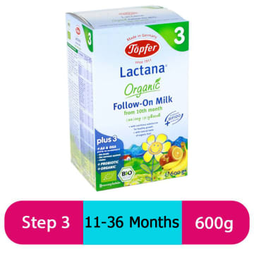Topfer Lactana Follow-On Milk (Step-3) 600g
