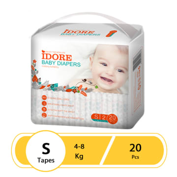 Idore Baby Diaper Pants S(20 Pcs)