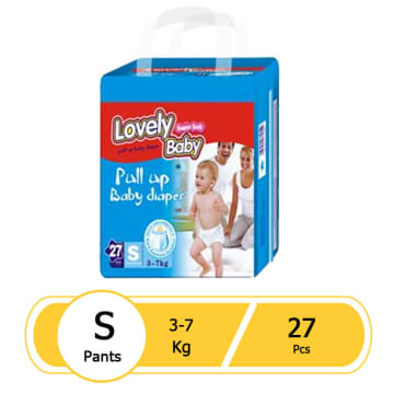 Lovely Baby Super Soft Pull up Baby Diaper (S 27 pcs)