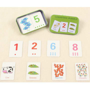 Flash card puzzle