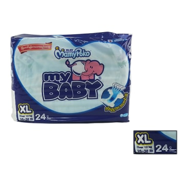 Mamy Poko My Baby Disposable Diapers (XL 24 Pcs)