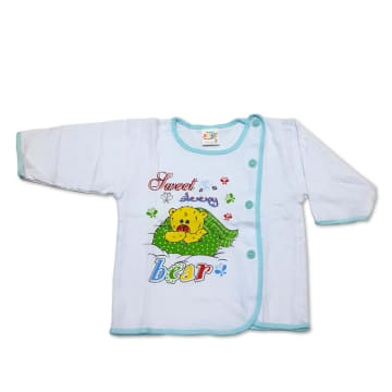 Cute Baby White Long Sleeves Shirt (6~12Months)