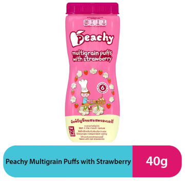 Peachy Multigrain Puffs with Strawberry (40g)