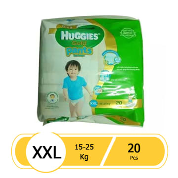 Huggies (Gold Pants)  Over Night  XXL 20 boy