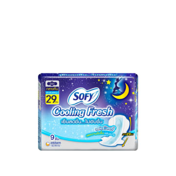Sofy Cooling Fresh Night Slim Wing - 29cm (9pcs)