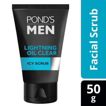 POND'S Men Lighting Oil Clear Icy Scrub FF  (50g)