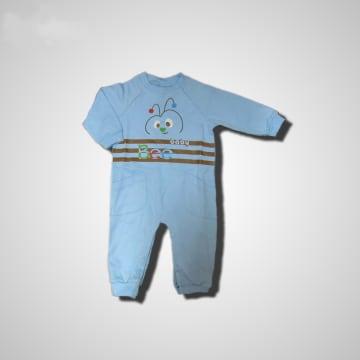 Baby Mommy Badysuit Interlock Blue Size-1 (0-1 M)