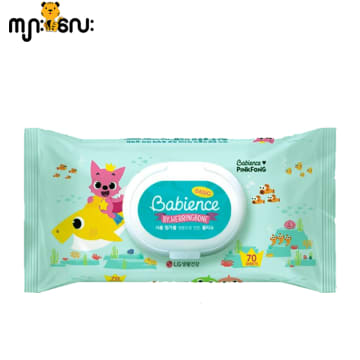 Babience- Pinkfong Wet Wipes(70sheets)