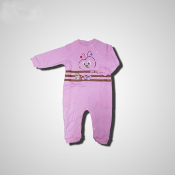 Baby Mommy Kids Pocket Overall Pink Size-2 (1-3 M)