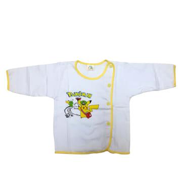 Cute Baby White Long Sleeves Shirt (0-3M)
