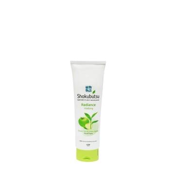 Shokubutsu Facial Foam Radiance Vitalizing (Green Tea,Green Apple) 130 Grams
