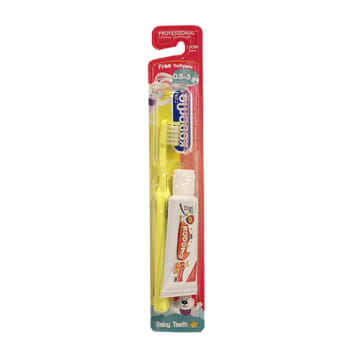 Kodomo-Children Toothbrush-0.5-3 Years(Free Toothpaste)