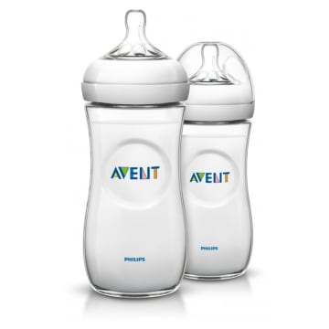 Philip Avent Bottle Natural 330ml/11oz Twin Pack SCF-696/23