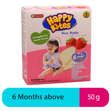 Happy Bites Strawberry Snack 50g