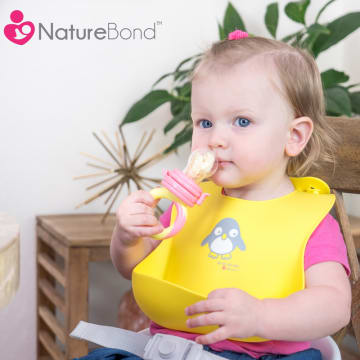 NatureBond Waterproof Silicone Baby Bibs - 2pcs