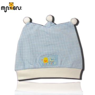 Piyo Piyo Triangle Newborn Hat (blue)
