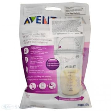 PHILIPS AVENT BREAST MILK STORAGE BAGS 180ML 25 PACKS BPA FREE - SCF-603/25