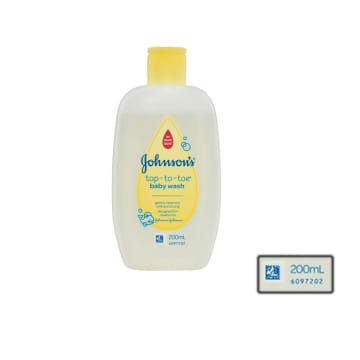 Johnson's top-to-toe baby wash 200ml