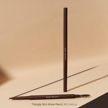 Baby bright Triangle Slim Brow Pencil#03 Walnut
