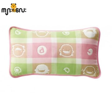 Piyo Piyo six Layer Cotton Gauze Pillow (Pink)
