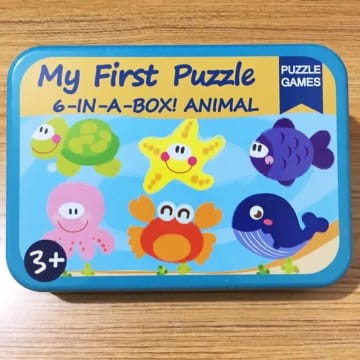 My First Puzzle 6-in-a-Box! Animal (blue)