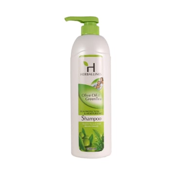 Herballines Shampoo Olive Oil & Green Tea  1000ml