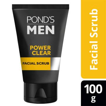 PONDS Men PowerClear Pollution Out Facial Scrub 100g