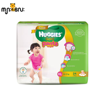 Huggies (Gold Pants)  Over Night  XL 24 girl
