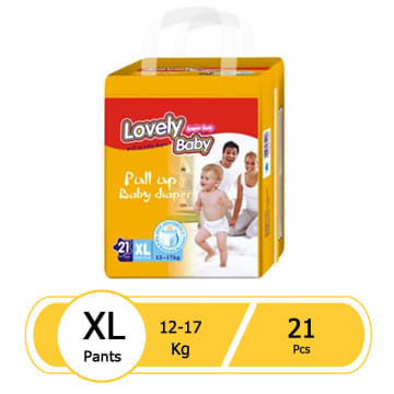 Lovely Baby Super Soft Pull up Baby Diaper (XL 21 pcs)