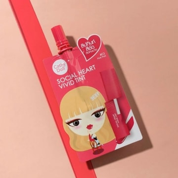 Cathy Doll Social Heart Vivid Tint #3 Pink Post