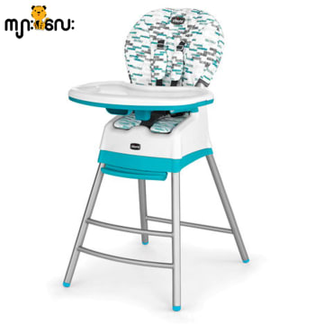 Chicco Stack High Chair Aqua USA 3 In 1 Muti-Chair