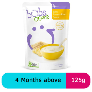 Bubs banana rice cereal  4+ (125g)