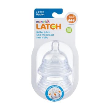 Munchkin LATCH 2 pack Nipples (6M+)
