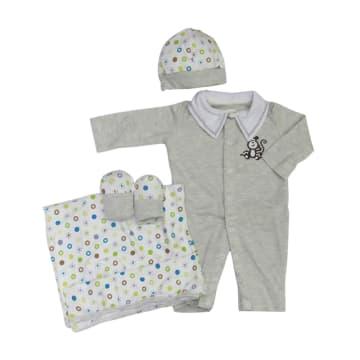 Gift Set 0-3M (Light Gray)