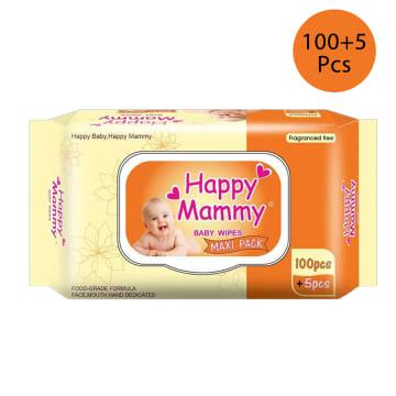 Happy Mammy Baby wipes Orange (100+5pcs )