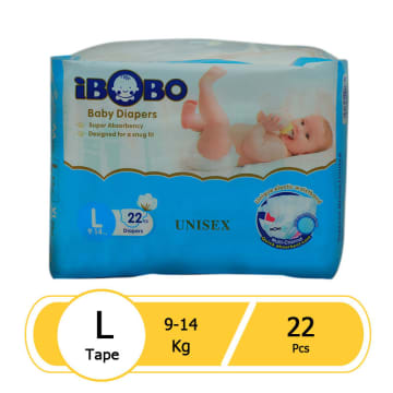 iBOBO Diaper Tape (L-22 Pcs)